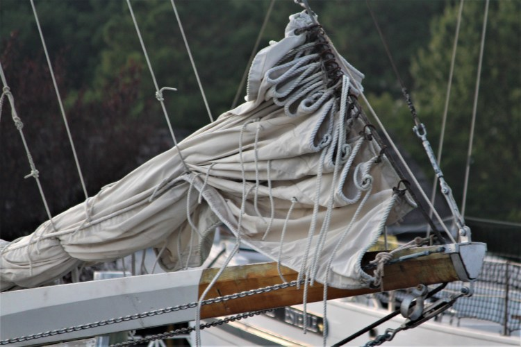 Sails folded, Eastern Shore