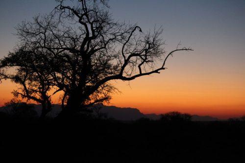 Sundown in South Africa