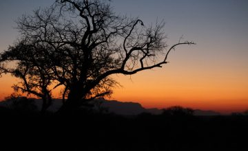 Sundown in South Africa