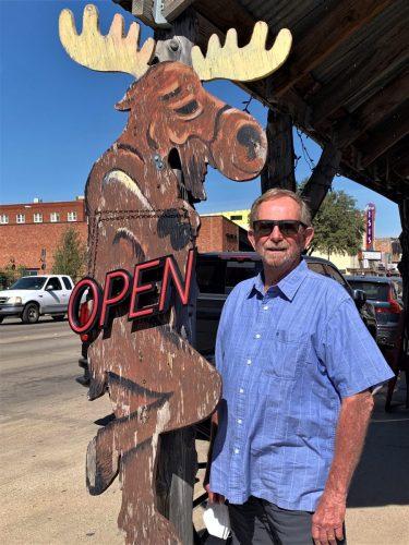 Cross-Eyed Moose in Ft. Worth Stockyards