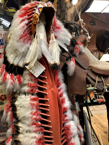 Indian headdress, Cross-Eyed Moose, Ft. Worth Stockyards