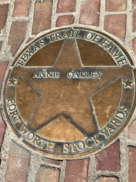 Annie Oakley tribute, Ft. Worth Stockyards, Texas Trail of Fame