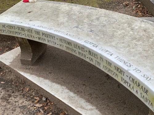 Mercer bench - Bonaventure Cemetery