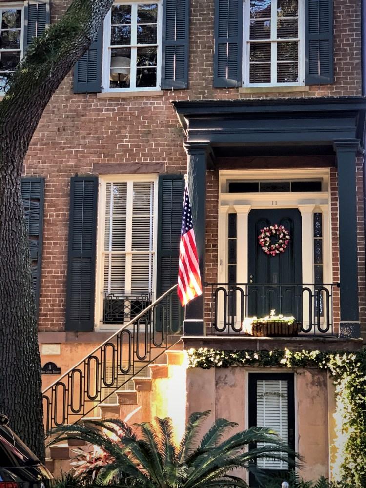 Savannah GA: Georgian house on Jones Street