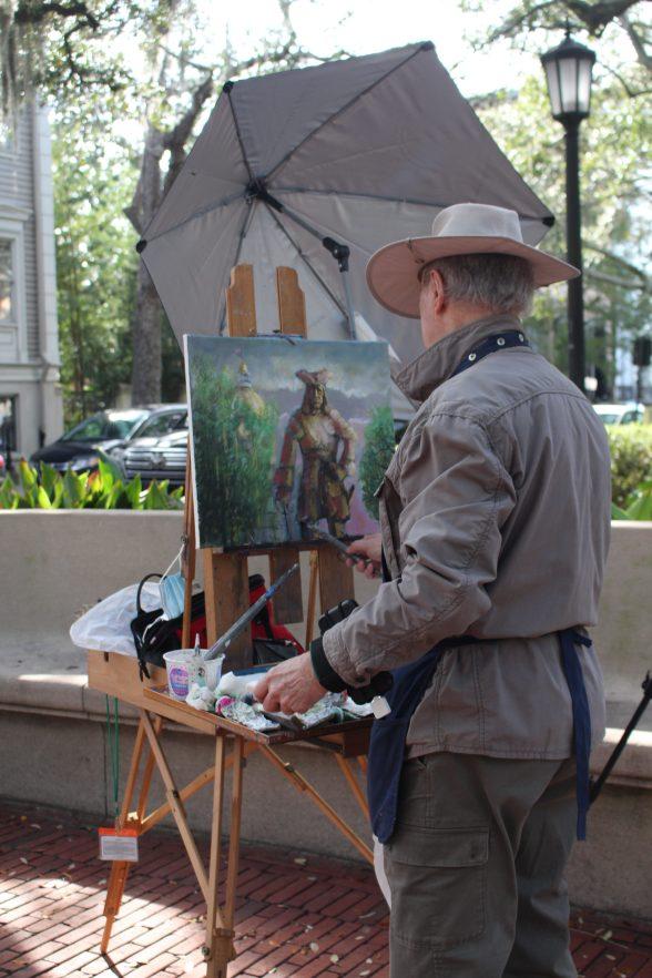 Plein air painting in Savannah, GA