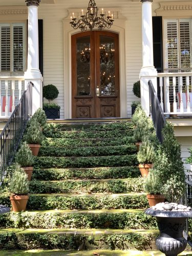 Savannah GA: house with mossy steps