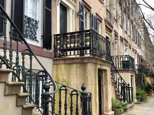Savannah GA: Row houses with ironwork