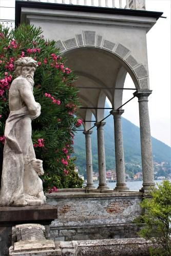 Looking at Lake Como from Villa Monastero, Varenna, Italy