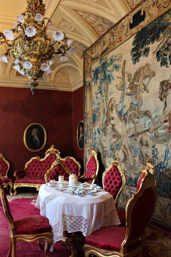 Dining room, Villa Monastero in Varenna, Italy