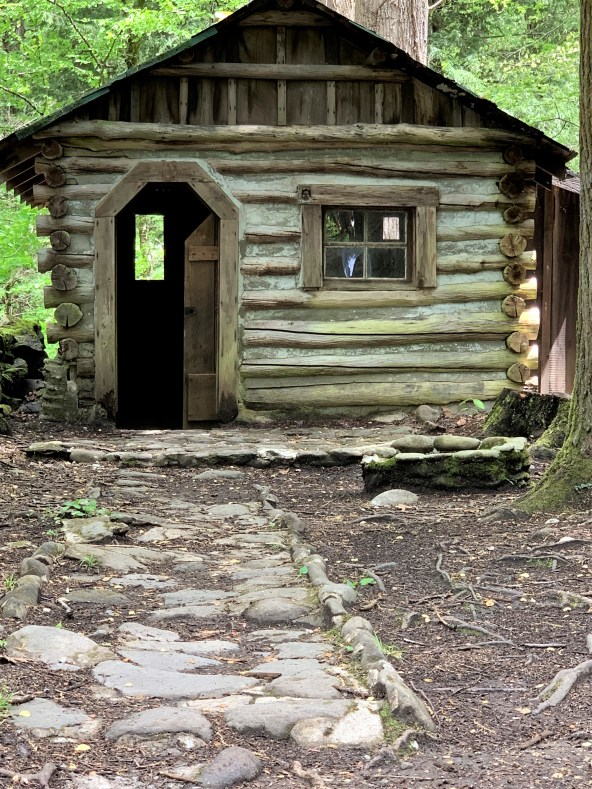 Elkmont small log house, Great Smoky Mountains