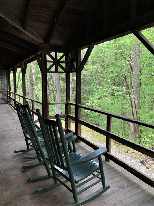 Front porch, Appalachian Clubhouse, Elkmont