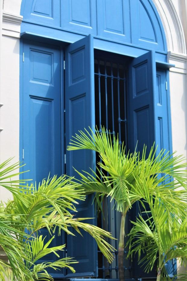 Blue shutters in Bangkok