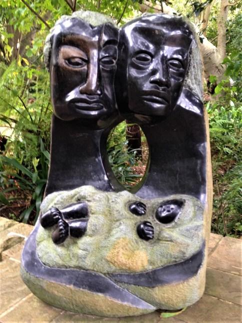 African art at Kirstenbosch Botanical Gardens, Cape Town, S. Africa
