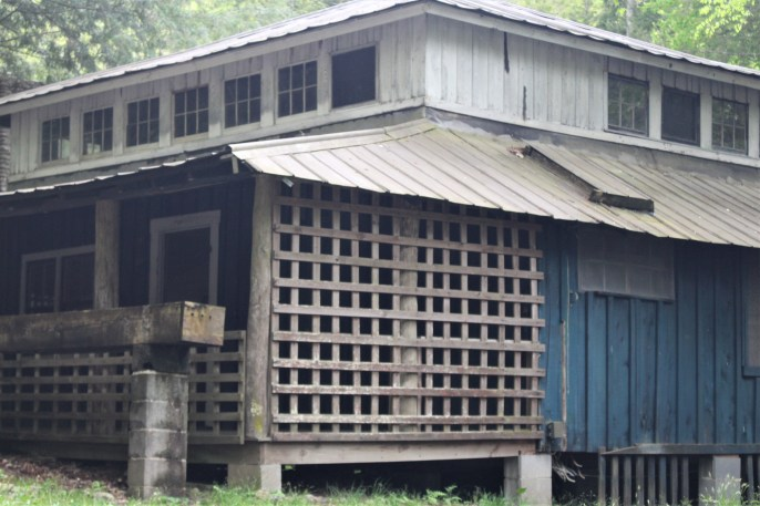 Blue house with porch - Elkmont, Great Smokies
