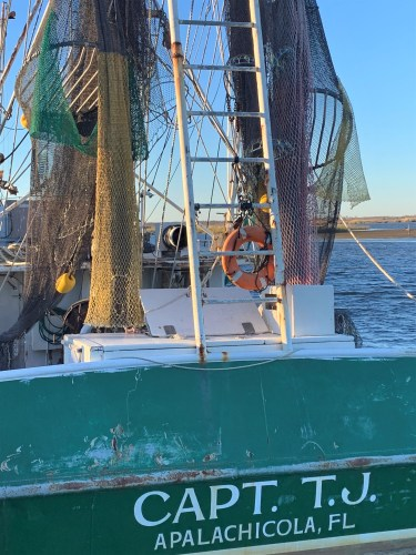 Capt. TJ's boat in Apalachicola FL