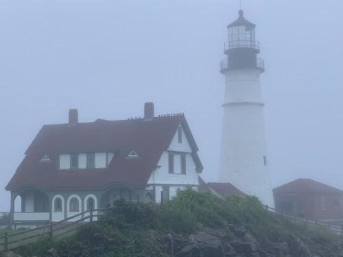 Foggy day, Portland Head Light