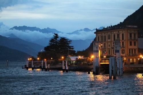 Lake Como and Varenna at night
