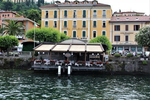 Restaurant and hotel on Lake Como, Italy