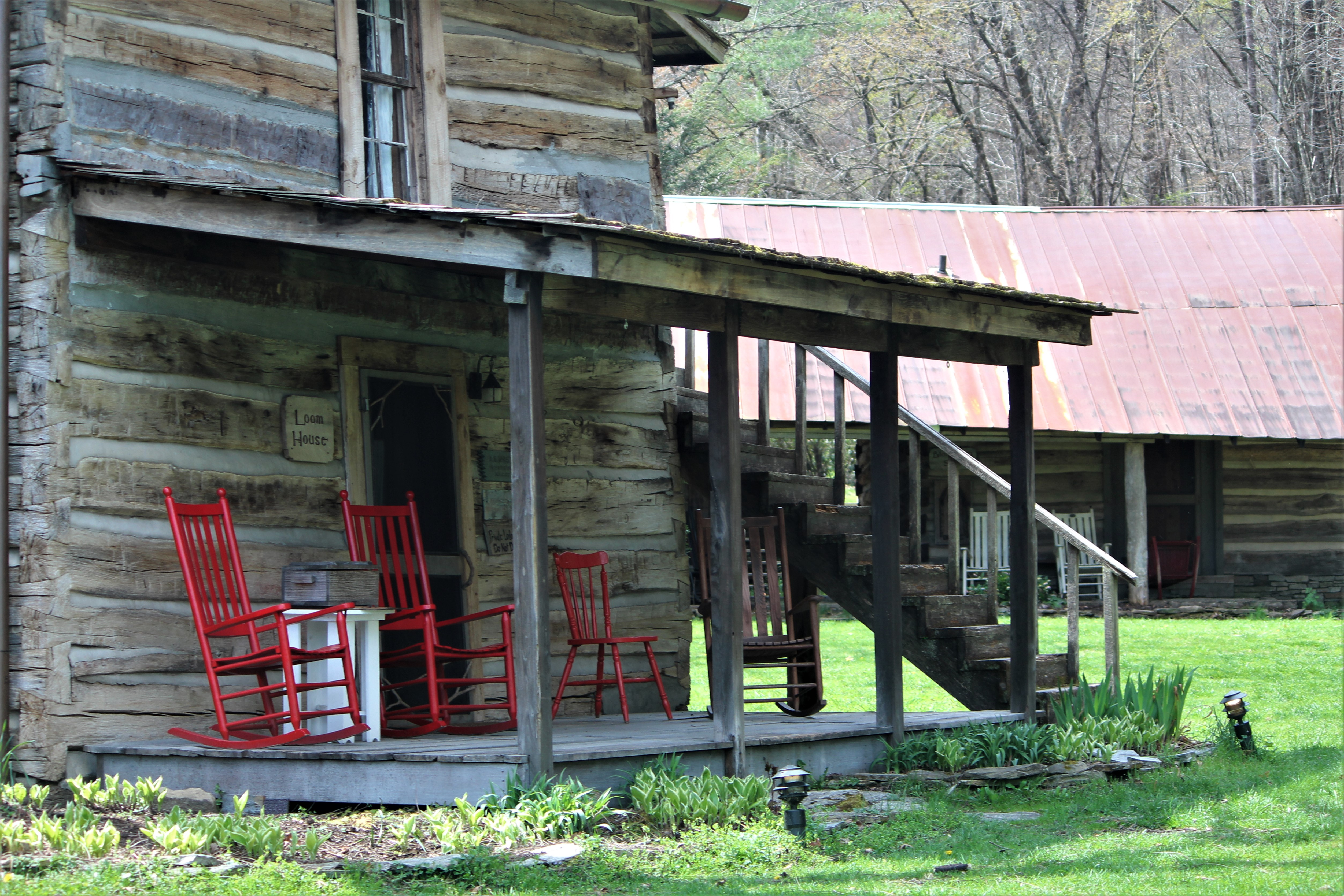 Lane House Porch, Mast Farm Inn, Valle Crucis, NC