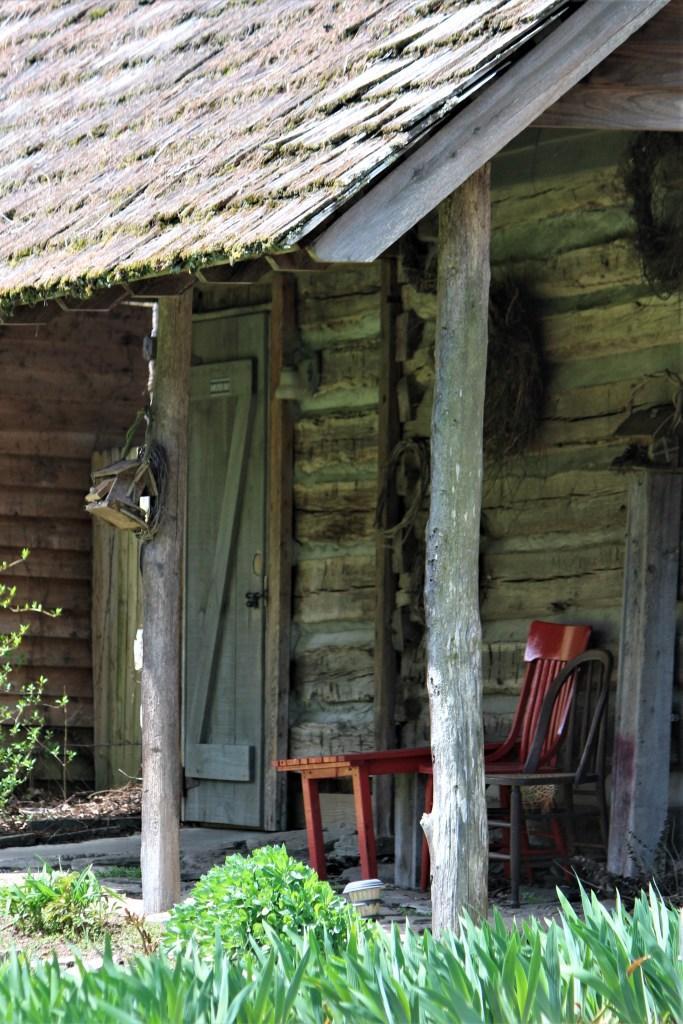 Sitting porch, Valle Crucis, Mast Farm Inn