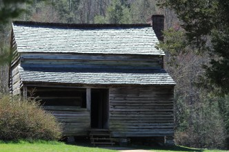 Morning breaks on Cades Cove cabin