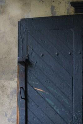 Handmade door with iron handle, French Quarter