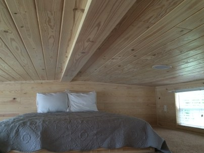 The loft bedroom -- great space, but don't stand up!