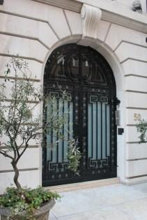 Ornate door, London's Park Street