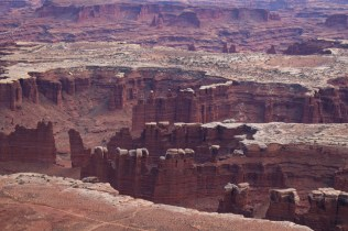 Sandstone monoliths at Monument Basin, Canyonlands