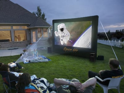 Huge Backyard Theater System