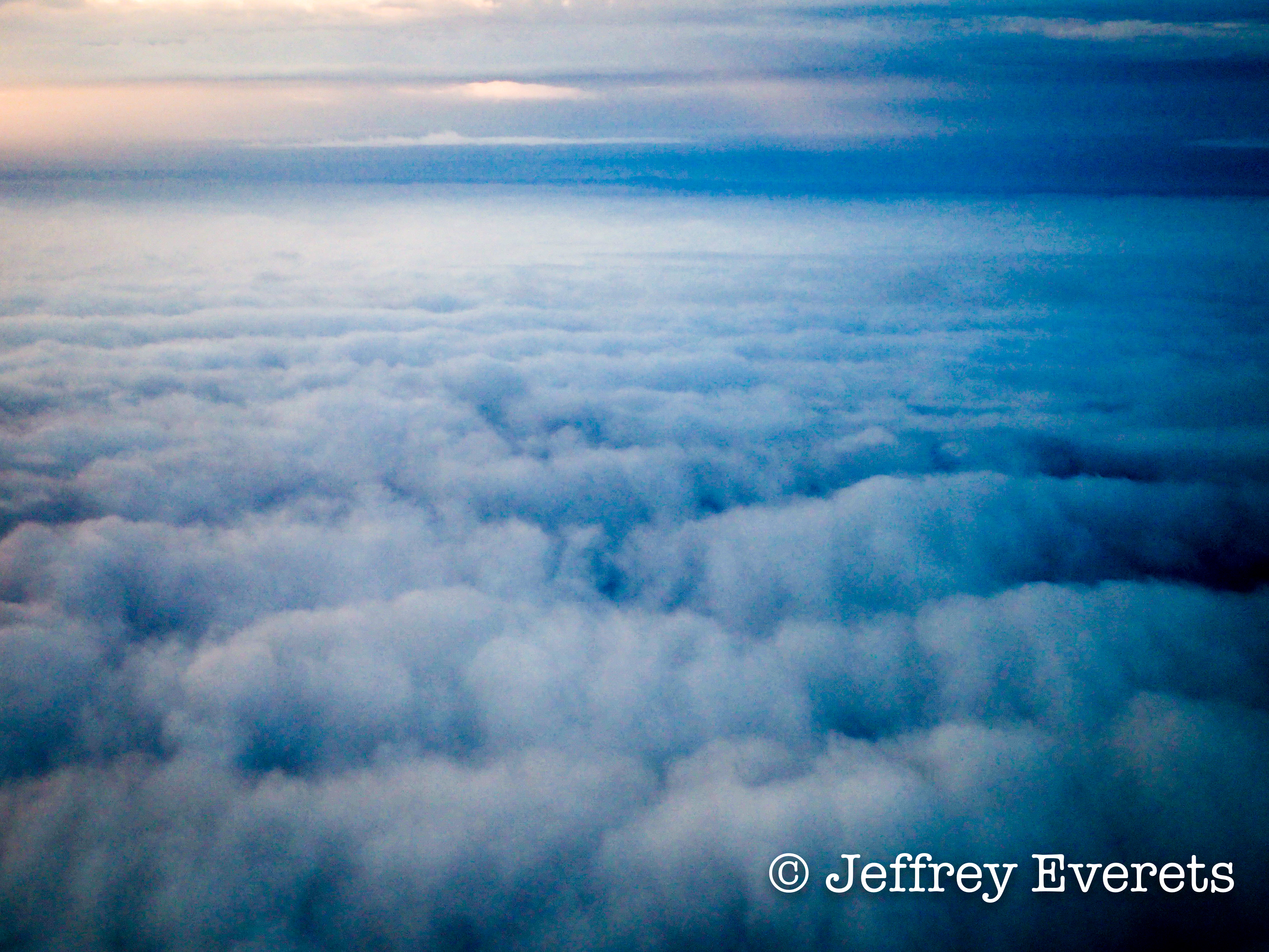 Looking down on clouds