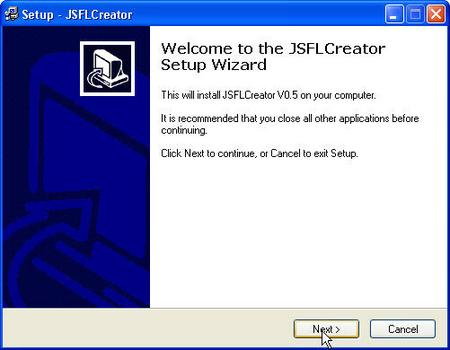 JSFLCreator_setup.jpg