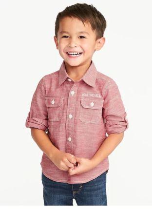 Red Chambray Heartbreaker Shirt