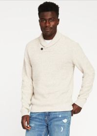 Texture Shawl Collar Sweater