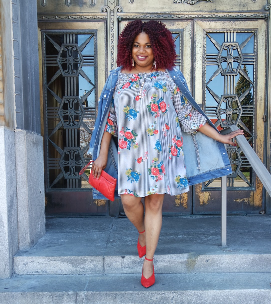 Target Plus Size Off the Shoulder Dress with Ruffle Sleeve