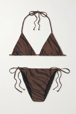 Faithful The Brand Tiger-Print Triangle Bikini