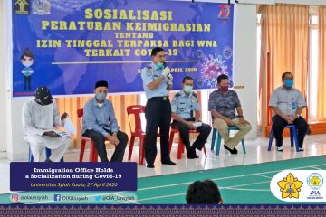 Banda Aceh Immigration Office holds a Socialization on Immigration Affairs during Covid-19