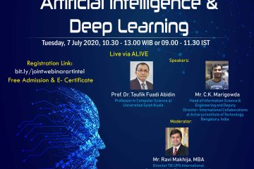Joint International Webinar: Artificial Intelligence & Deep Learning