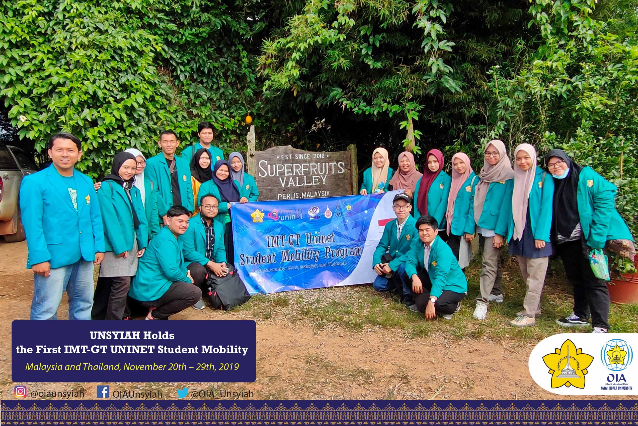 UNSYIAH Holds the First IMT-GT UNINET Student Mobility in Malaysia and Thailand