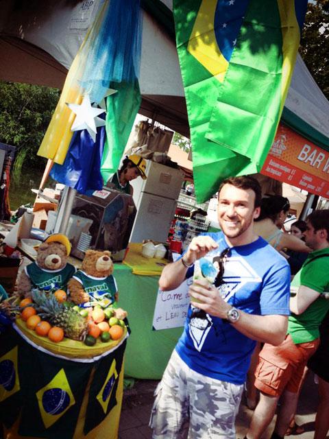 Nilton no carnaval brasileiro no Jean Drapeau