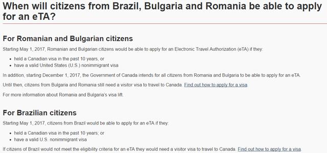 Canadá inclui Brasil no programa de Autorização Eletrônica de Viagem (eTA)