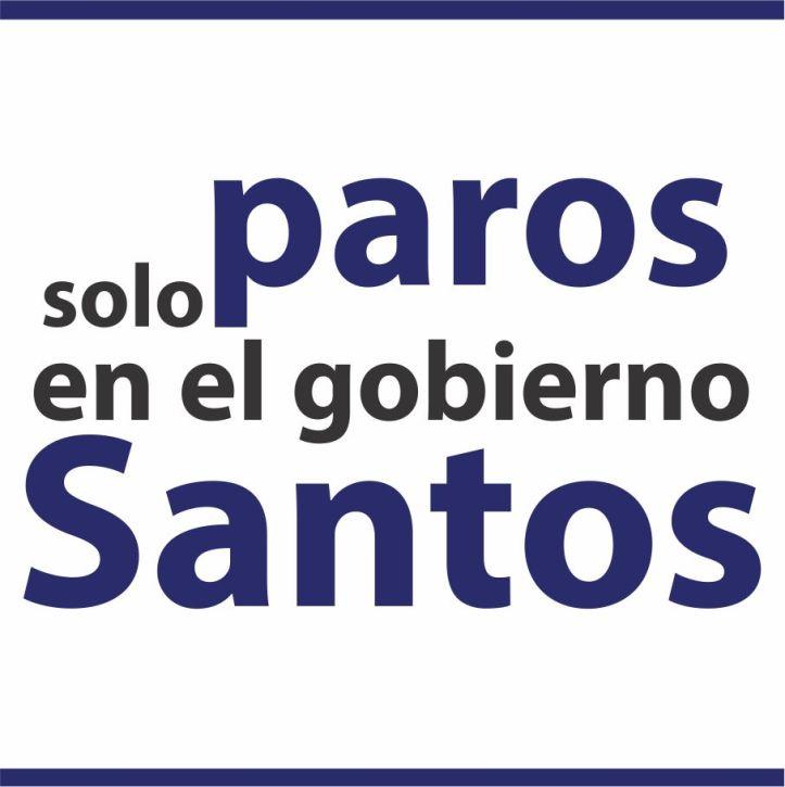 Boton solo paros en el gobierno Santos