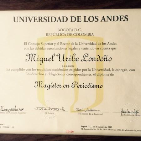 Diploma Miguel Uribe L