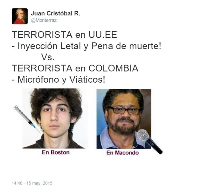opinión diferencias entre el terrorismo