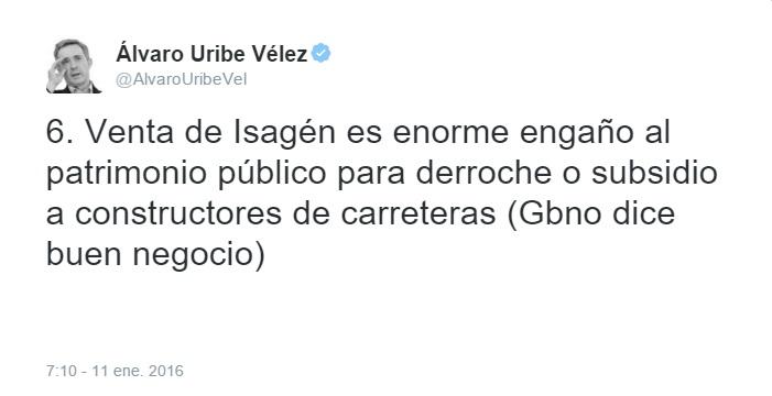 tweet uribe