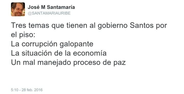 opinión gobierno Santos