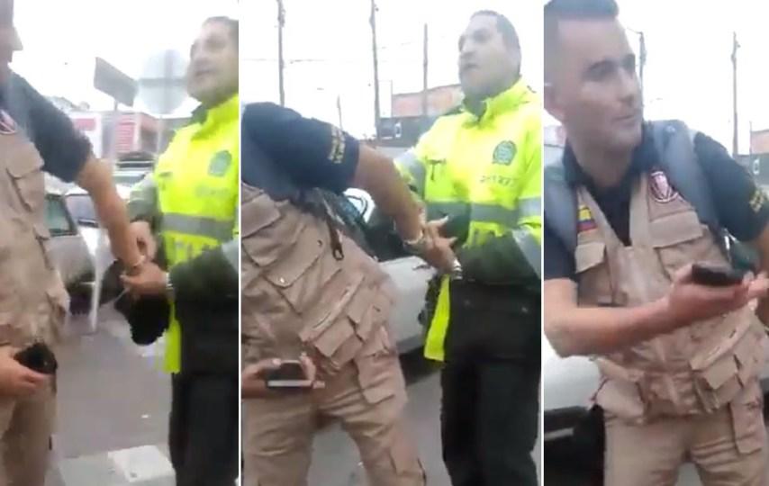 """Video: """"¿Con quién cree que está hablando?"""": Policía que arrestó a suboficial del Ejército"""
