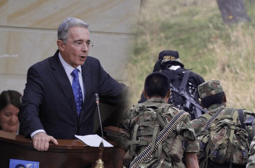 Uribe revela panfleto con amenazas de las Farc