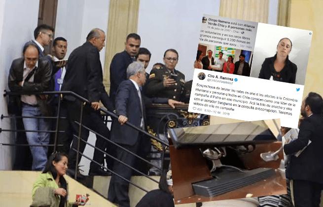 Identificada una de las personas que lanzó ratones a Uribe