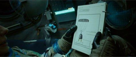 Soyuz instruction manual in film Gravity